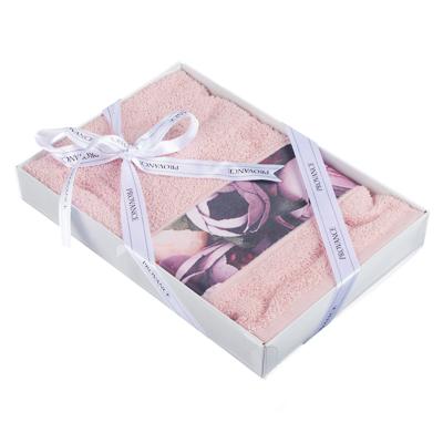 PROVANCE Мятный Латте Полотенце махровое с принтом, 100% хлопок, 50х80см, 350гр/м, 3 цвета