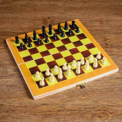 "Шахматы ""Тульпа"", (фигуры дерево, доска дерево 24х24 см)"