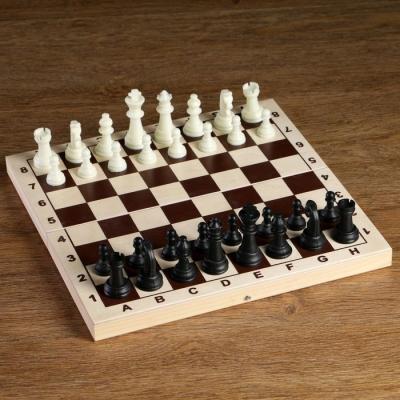 Фигуры шахматные пластиковые (король h=6.2 см, пешка 3 см)