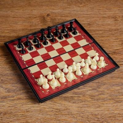 Шахматы магнитные, в коробке, 19х19см