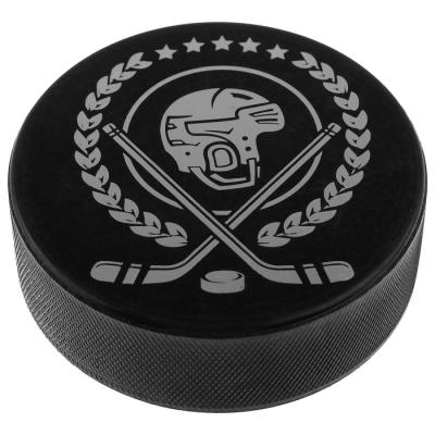 Шайба хоккейная взрослая «Шлем», d=7,6 см, h=2,5 см, 168 г