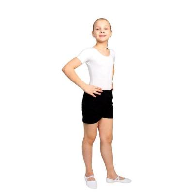 Шорты гимнастические, размер 30, цвет чёрный