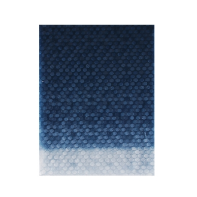 VETTA Шторка для ванной, винил, 180x180см, 12 колец, 3D, полоски, синий