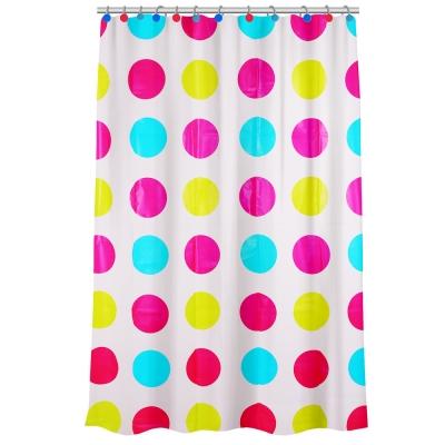 VETTA Шторка для ванной с декоративными кольцами, ПЕВА, 180x180см, 3 дизайна