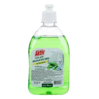Средство для мытья посуды AKTIV/Радуга алоэ-вера/лимон/яблоко, 500мл, арт.см-2370,см-2371