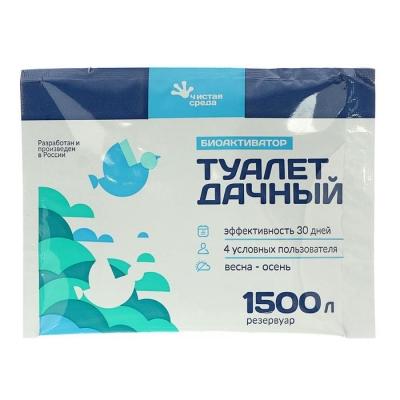 """Биоактиватор для дачного туалета """"Туалет дачный"""", 60 гр"""