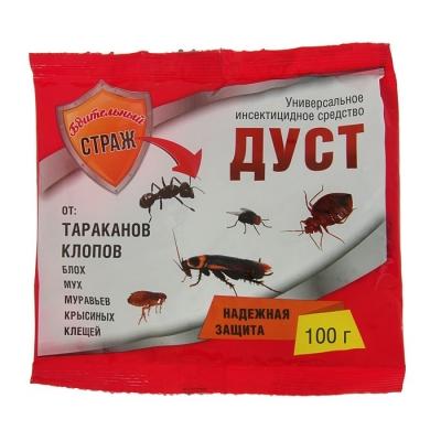 """Дуст универсальное инсектицидное средство """"Бдительный Страж"""" от тараканов, клопов, 100 г"""