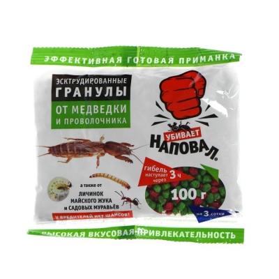 """Гранулы от медведки и проволочника """"Наповал"""", 100 г"""
