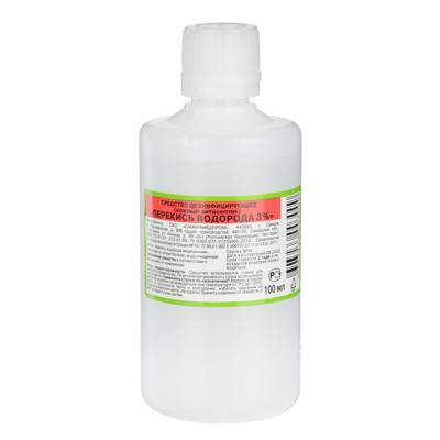 Перекись водорода 3 %, 100 мл дез.средство, ТУ 2381-001- 21233205-2011