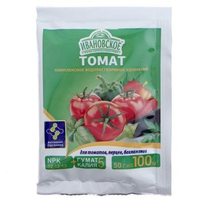 Удобрение «Ивановское» для томатов, перцев и баклажанов, 50 г.