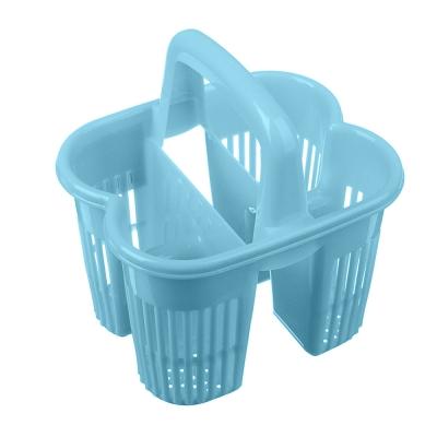 Сушилка для столовых приборов с ручкой, 4 секц, пластик,