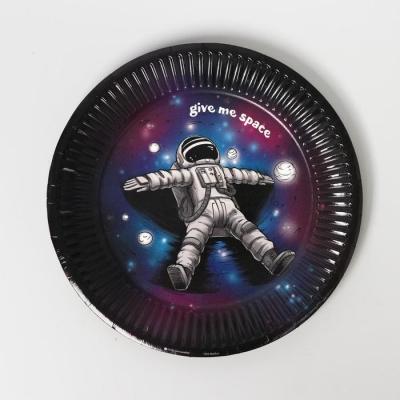 Тарелка бумажная «Космического дня рождения», 18 см
