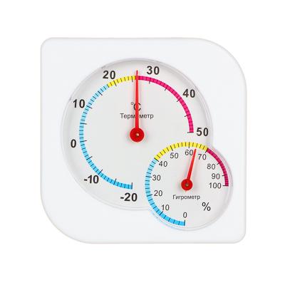 INBLOOM Термометр мини, измерение влажности воздуха, квадратный, 7,5x7,5см, пластик, блистер