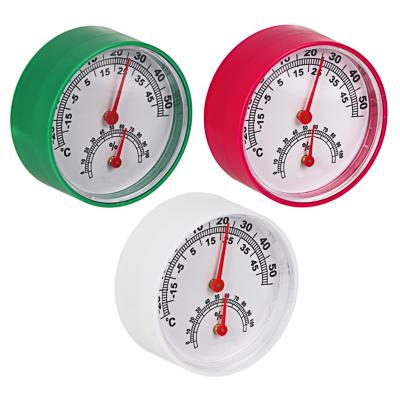 INBLOOM Термометр + влагомер на блистере, 6,3см, металл, пластик, 3 цвета