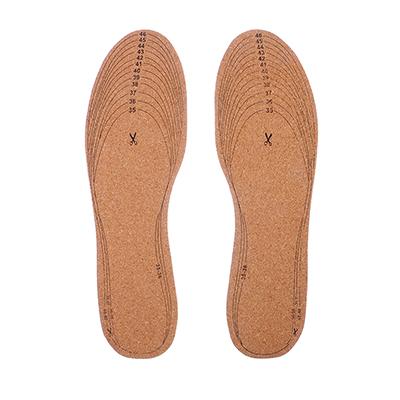 Стельки для обуви универсальные из махровой ткани и натуральной пробки, р-р. 35-46
