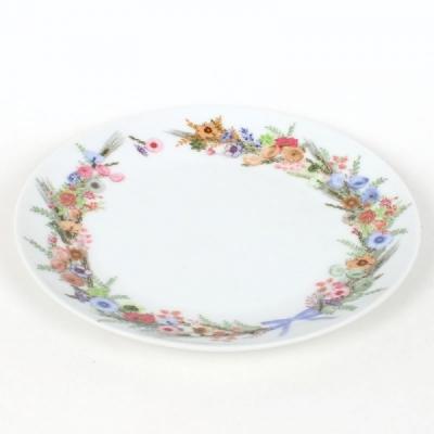 Тарелка десертная d=19см ЦВЕТОЧНЫЙ ВЕНОК (6/24)
