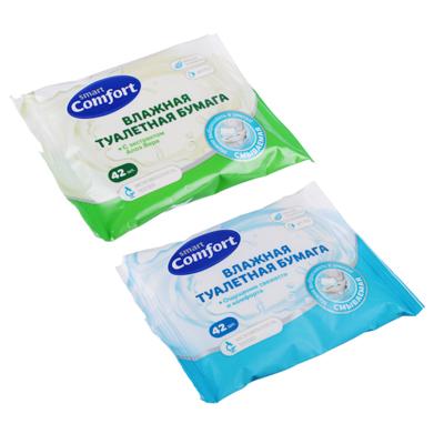 Туалетная бумага влажная Comfort smart ромашкой/алоэ, 42 шт
