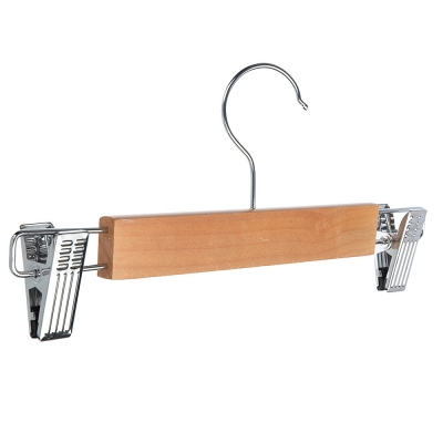 VETTA Вешалка деревянная для юбок и брюк, с клипсами, 28см, арт.171