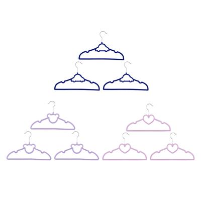 VETTA Набор вешалок детских, 3шт, с покрытием флок, 3 дизайна