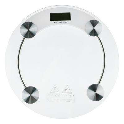 Весы напольные электрон., ЖК-дисплей, макс. нагр.до 180кг, стекло, d33х0,8см