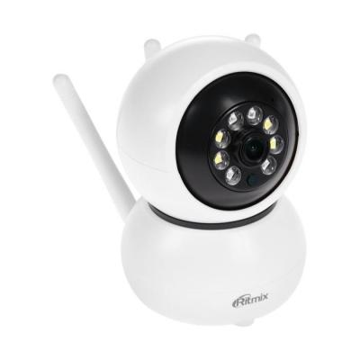 Видеокамера Ritmix IPC-212, IP, Full HD, 2 Мп, micro SD, поворотная, белая