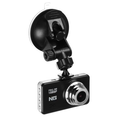 "NG Видеорегистратор Full HD, дисплей 3.0"", слот micro-SD, 200мАч, зарядка 12/24В 3.4М, пластик"