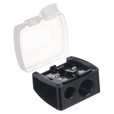 ЮниLook Точилка для косметических карандашей двойная, пластик, 4х3,5х2см, черный, SB-02A-11