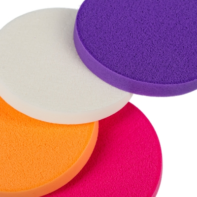 ЮниLook Набор спонжей для макияжа, 4 шт, латекс, d5,5см, 4 цвета