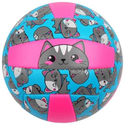Мяч волейбольный ONLITOP «Кошечка», размер 2, 150 г, 2 подслоя, 18 панелей, PVC, бутиловая камера
