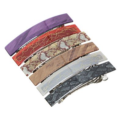 BERIOTTI Заколка-автомат для волос, металл, пластик, 10см, 6 цветов, 4462-1
