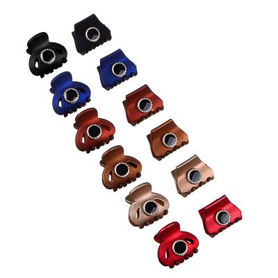 BERIOTTI Заколка-краб для волос с декором, пластик, 3см, 2 дизайна, арт.845