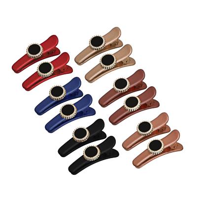 BERIOTTI Набор заколок-зажимов для волос 2шт, 3,5см, пластик, металл, 6 цветов, 4462-27