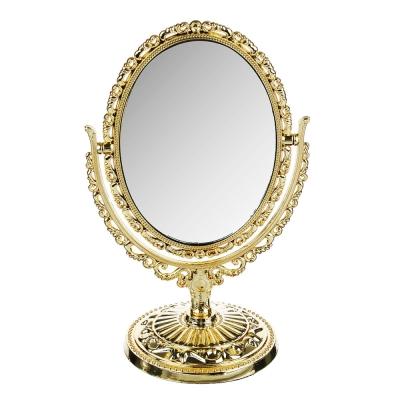 ЮниLook Зеркало настольное овальное 25х16см, пластик, стекло, 3-4 цвета