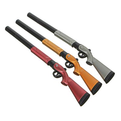 Ручка шариковая синяя, в форме ружья, подвижный приклад, пластик, 19,5см, 3 цв.корпуса