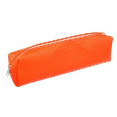 Пенал мягкий прямоугольный 20x6х4,5см, 4 цвета, ПУ,с антисминаемым вкладышем