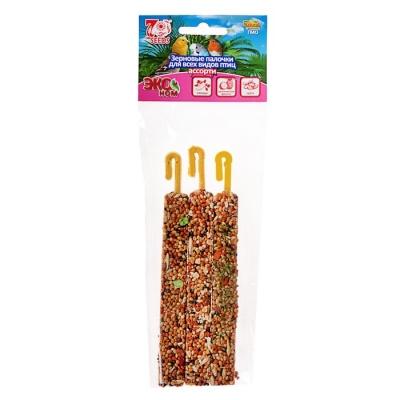 Палочки Seven Seeds Эконом для птиц, овощи/тропические фрукты/орех, 3 шт, 75 г