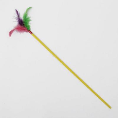 Дразнилка с пером, 39 см, микс цветов