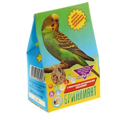 """Корм """"Бриллиант"""" для попугаев, с растительно-минеральными добавками, 400 г"""
