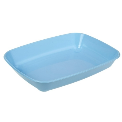 Туалет округлый, без сетки, 33,5 х 25 х 6 см, голубой