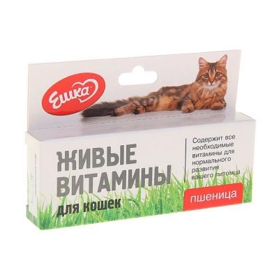 Живые витамины «Ешка» Пшеница для кошек, 20 г