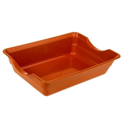 Туалет глубокий, без сетки, 36 х 26 х 9 см, коричневый