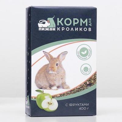 """Корм """"Пижон"""" для кроликов, с фруктами, 400 г"""