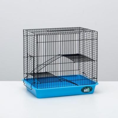 """Клетка для грызунов """"Пижон"""" №3-1, с 2-я этажами, без наполнения, 33 х 24 х 28 см, бирюзовая"""