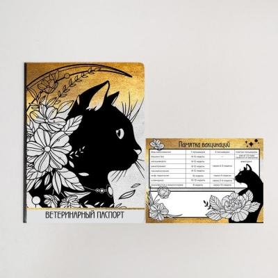 Обложка для ветеринарного паспорта и памятка для кошки