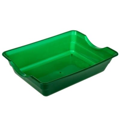 Туалет глубокий, без сетки, 36 х 26 х 9 см, зеленый