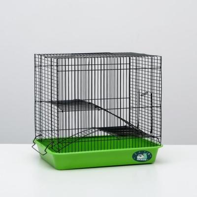 """Клетка для грызунов """"Пижон"""" №3-1, с 2-я этажами, без наполнения, 33 х 24 х 28 см, салатовая"""