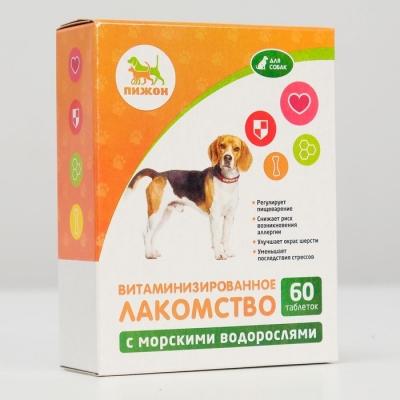 """Лакомства """"Пижон"""" для собак, с морскими водорослями, 60 табл."""