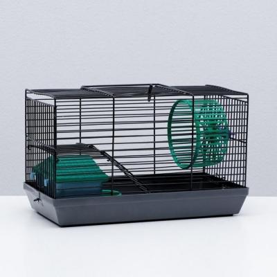 """Клетка-мини для грызунов """"Пижон"""" №2, укомплектованная, 27 х 15 х 16 см, серая"""