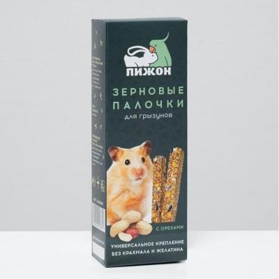 """Зерновые палочки """"Пижон"""" для грызунов, с орехами, 2 шт, 192 г"""