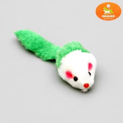 """Игрушка для кошек """"Малая мышь"""" двухцветная, микс цветов"""